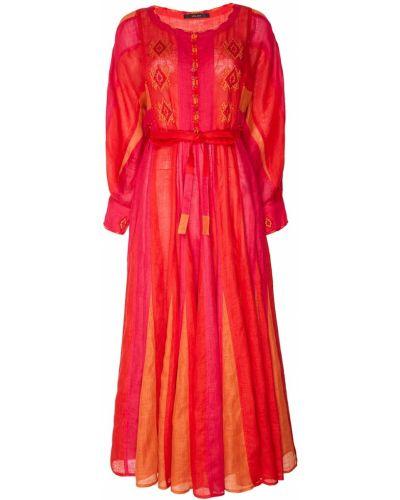 Платье макси на пуговицах с поясом Vita Kin
