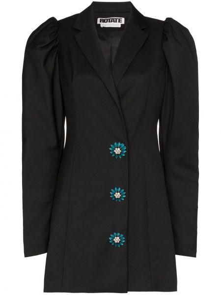 Платье на пуговицах черное Rotate