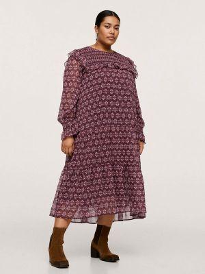 Повседневное платье - бордовое Violeta By Mango