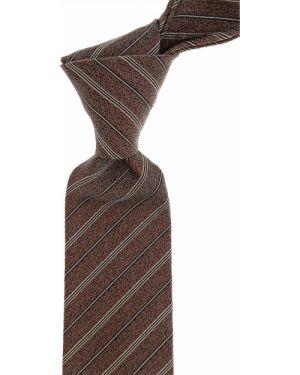 Czarny krawat w paski z jedwabiu John Varvatos
