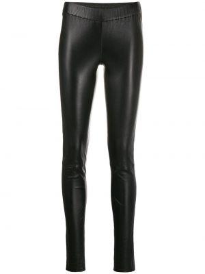 Кожаные леггинсы - черные Max & Moi