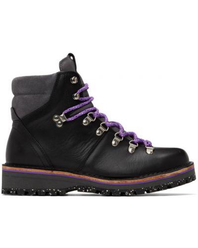 Кожаные черные ботинки на каблуке Ps By Paul Smith
