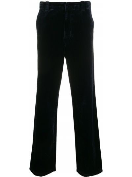 Bawełna bawełna prosto spodnie o prostym kroju z łatami Acne Studios