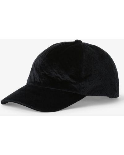 Baza czarny czapka z daszkiem Guess