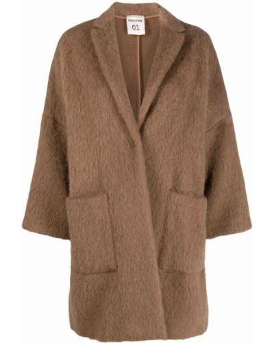 Пальто из альпаки - коричневое Semicouture