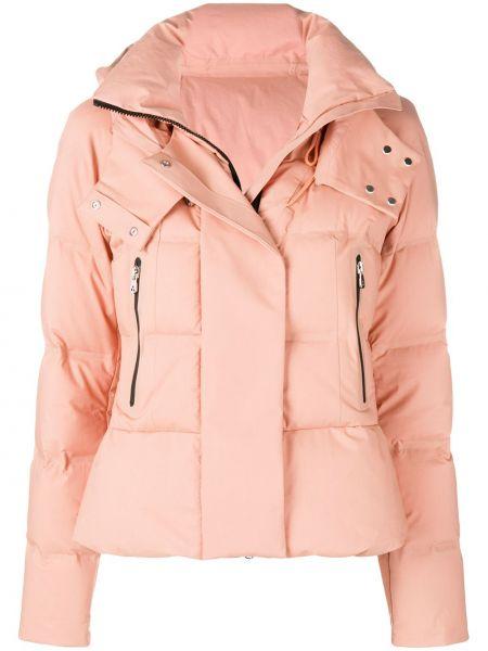 Розовая куртка с капюшоном круглая Peuterey