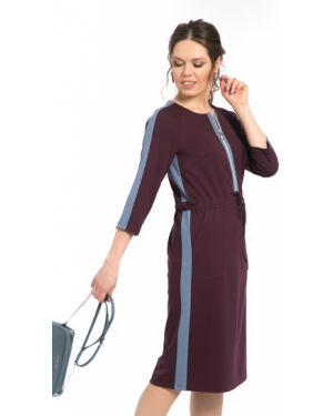 Трикотажное платье - фиолетовое Modellos