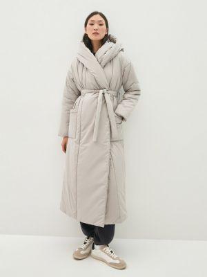 Серое зимнее пальто Zarina