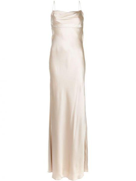 Платье шелковое с воротником Michelle Mason