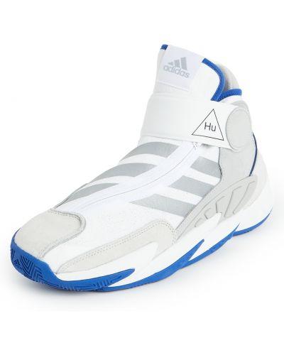 Замшевые баскетбольные кроссовки на липучках Adidas