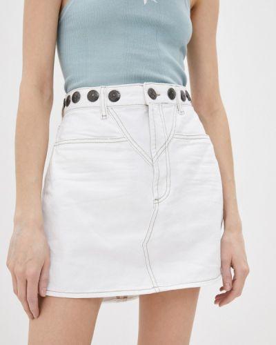 Белая джинсовая юбка One Teaspoon