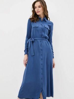 Синее платье-рубашка Trendyol