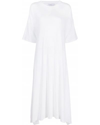 Белое платье мини с короткими рукавами с вырезом Rosetta Getty