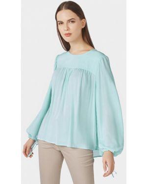 Блузка с длинным рукавом бирюзовая весенний Pompa