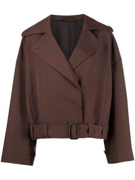 Bawełna brązowy krótkie szorty z kieszeniami z wiskozy Lemaire