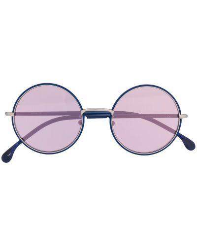 Прямые муслиновые солнцезащитные очки круглые хаки Paul Smith Eyewear