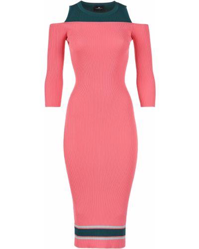 Платье из вискозы - розовое Elisabetta Franchi
