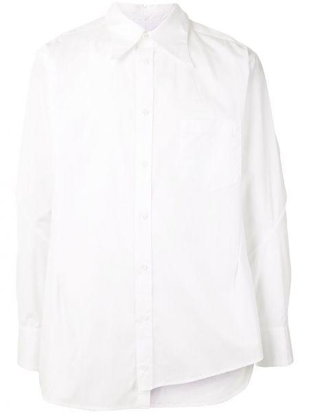 Biała klasyczna koszula bawełniana z długimi rękawami Sulvam