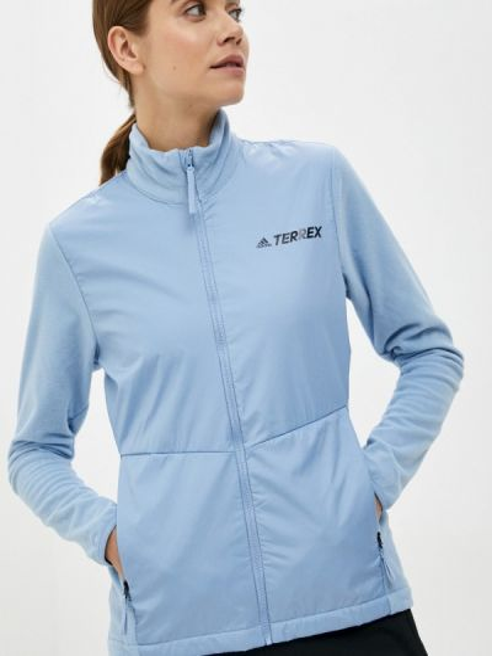 Голубая зимняя толстовка Adidas