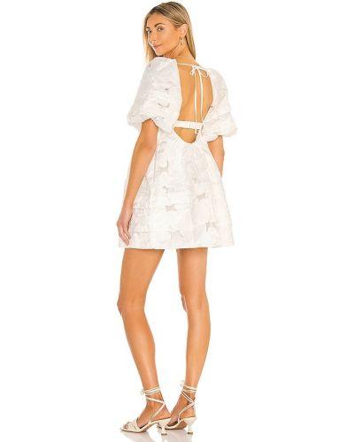 Платье с вышивкой - бежевое For Love & Lemons