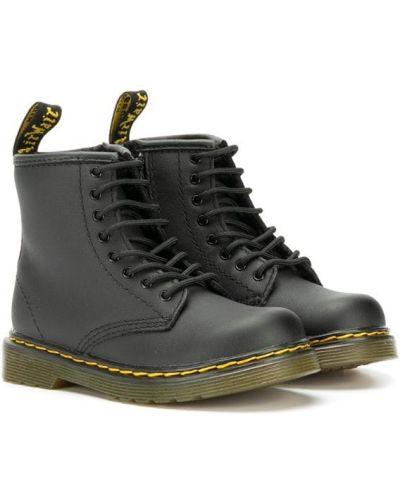 Черные сапоги на шнуровке Dr. Martens Kids