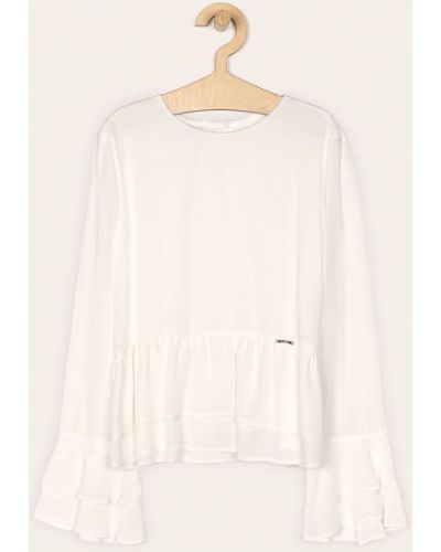 Блуза белая из вискозы Liu Jo
