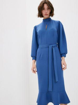 Синее повседневное платье Adzhedo