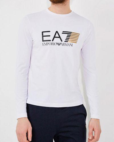 Белый спортивный лонгслив Ea7