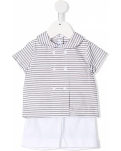Koszula krótki rękaw bawełniana w paski Little Bear