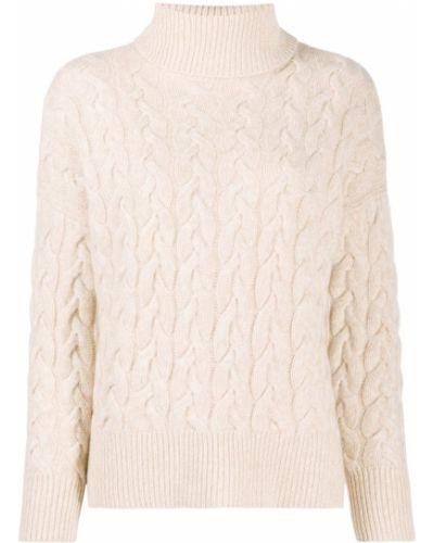 С рукавами кашемировый свитер в рубчик N.peal