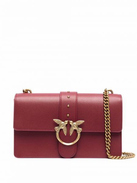 Кожаная сумка - красная Pinko