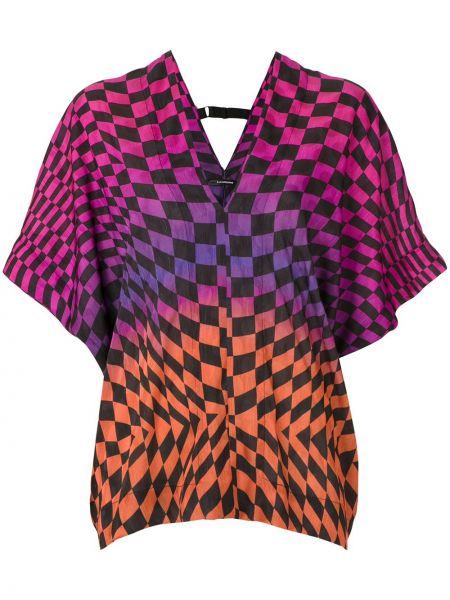 Свободная с рукавами блузка свободного кроя À La Garçonne