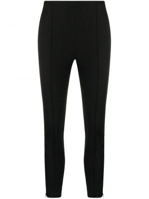 Хлопковые черные укороченные брюки узкого кроя Michael Kors