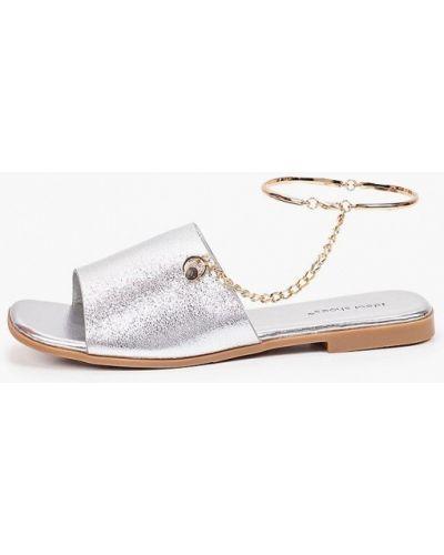 Серебряные кожаные сандалии Ideal Shoes®
