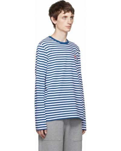 T-shirt bawełniana - biała Ami Alexandre Mattiussi