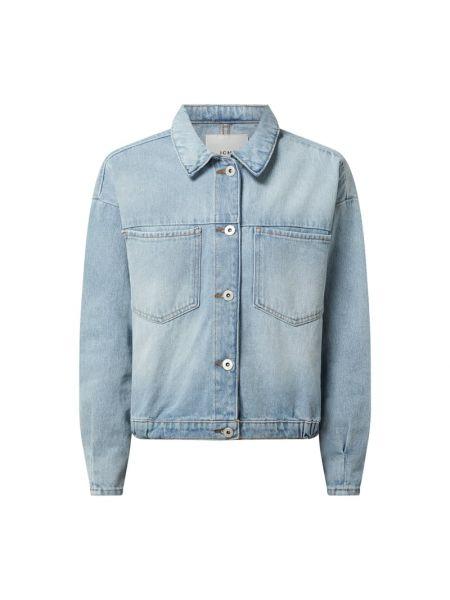 Niebieska kurtka jeansowa bawełniana Ichi