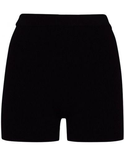 Черные шорты на резинке из вискозы Jacquemus