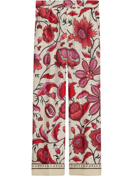 Różowe majtki z paskiem z jedwabiu Gucci