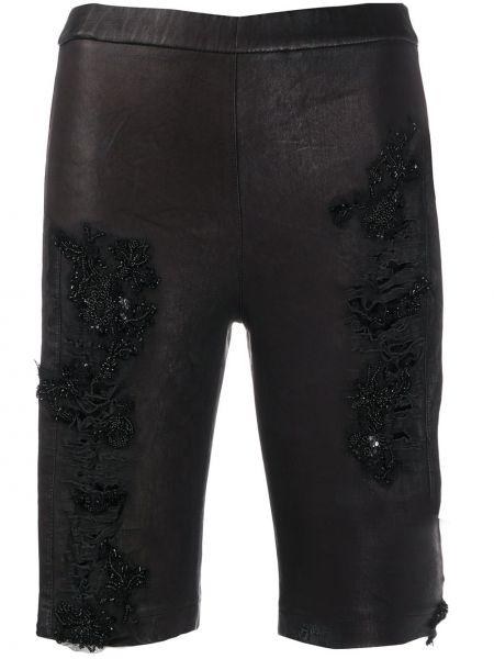 Черные шорты эластичные Almaz