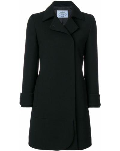 Длинное пальто классическое однобортное Prada