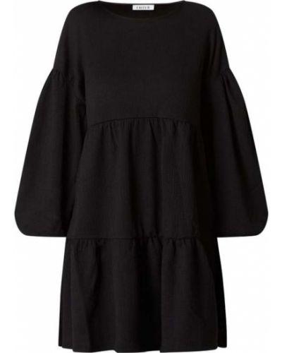 Czarna sukienka mini rozkloszowana Edited