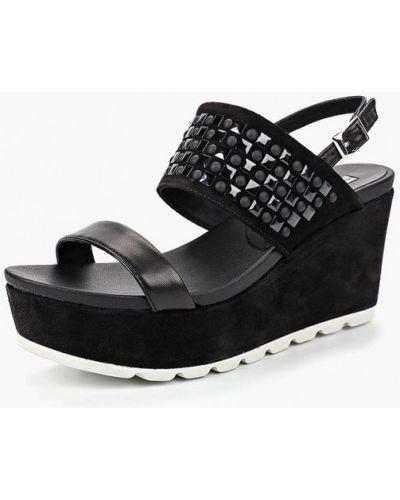 Черные босоножки на каблуке Tosca Blu