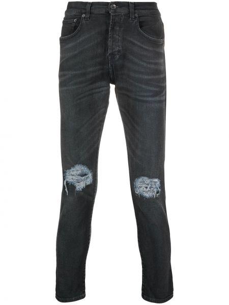 Czarne jeansy bawełniane z paskiem Prps