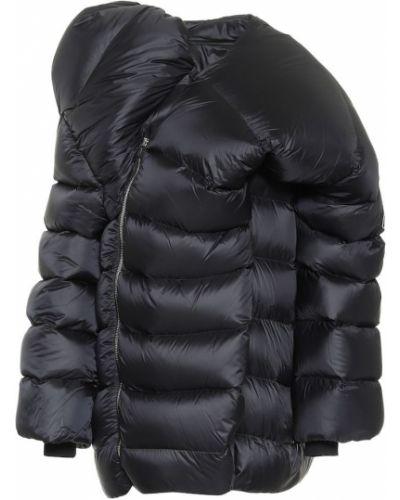 Черное стеганое пуховое пальто Rick Owens