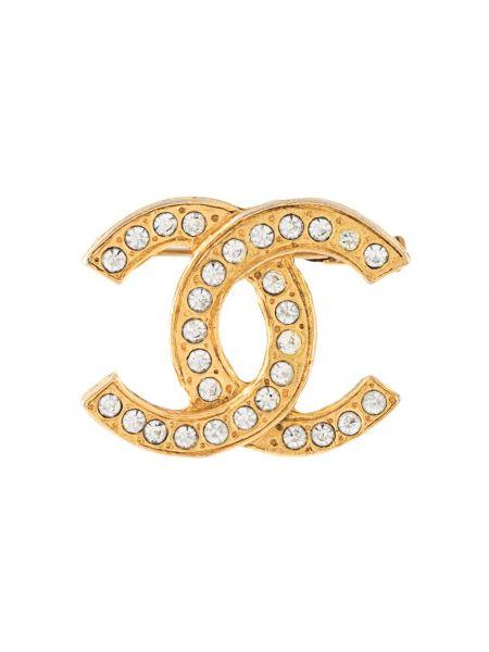 Broszka złoto pozłacany Chanel Pre-owned
