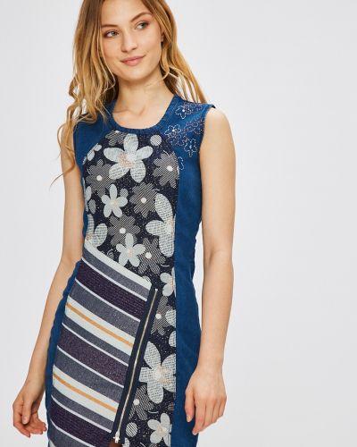 Джинсовое платье мини из вискозы Desigual