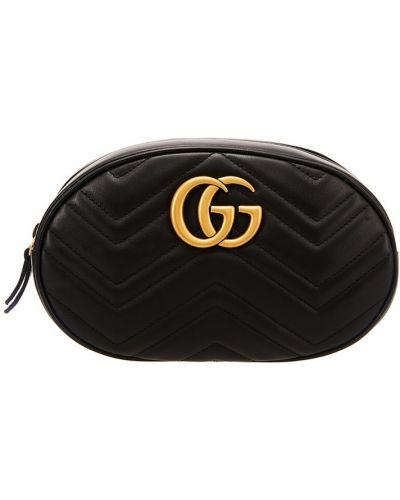 Поясная сумка кожаный с логотипом Gucci