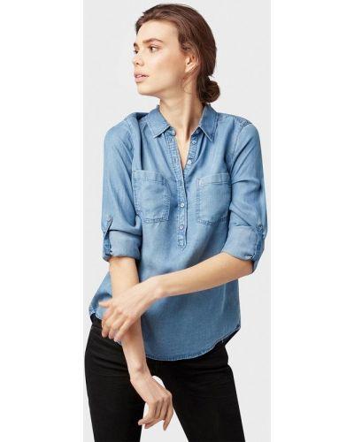 Синяя джинсовая рубашка Tom Tailor