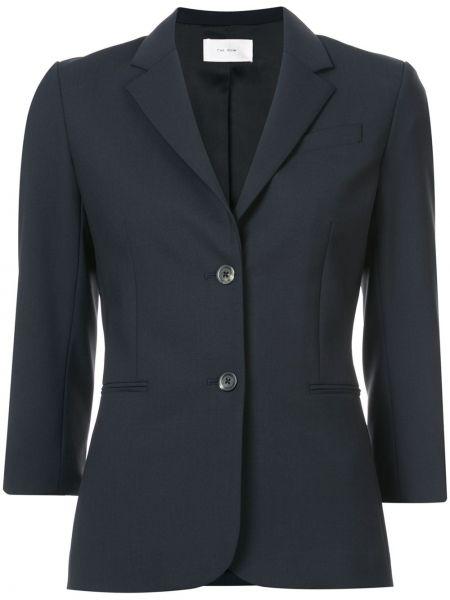 Однобортный синий пиджак с карманами The Row