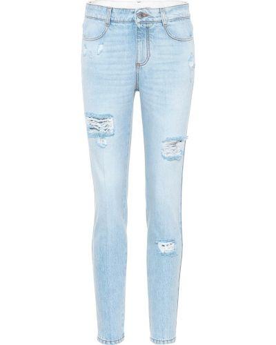 Niebieski zawężony bawełna bawełna obcisłe dżinsy Stella Mccartney